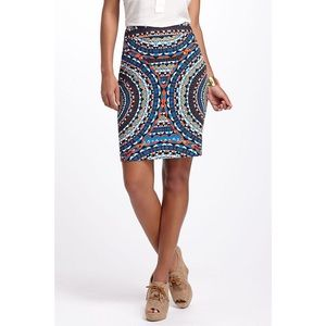 Anthropologie Tabitha Mosaic Olmeda Pencil Skirt